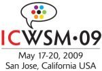 Liveblogging ICWSM 2009 – Day 2