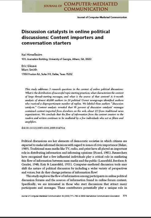 JCMC - Discussion Catalysts