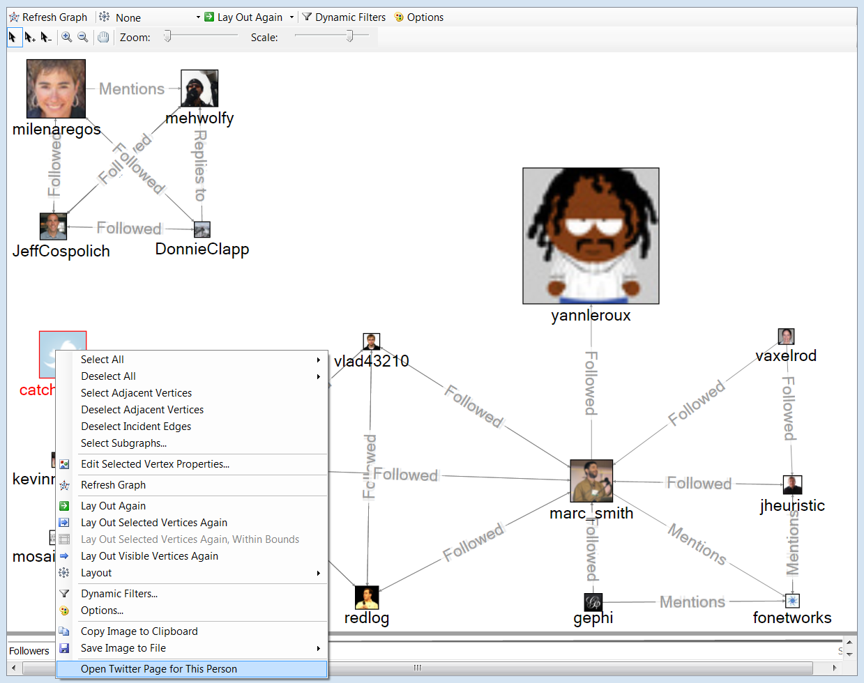 Right-click Nodes In The NodeXL Graph Pane To Link To Lots Of Things.