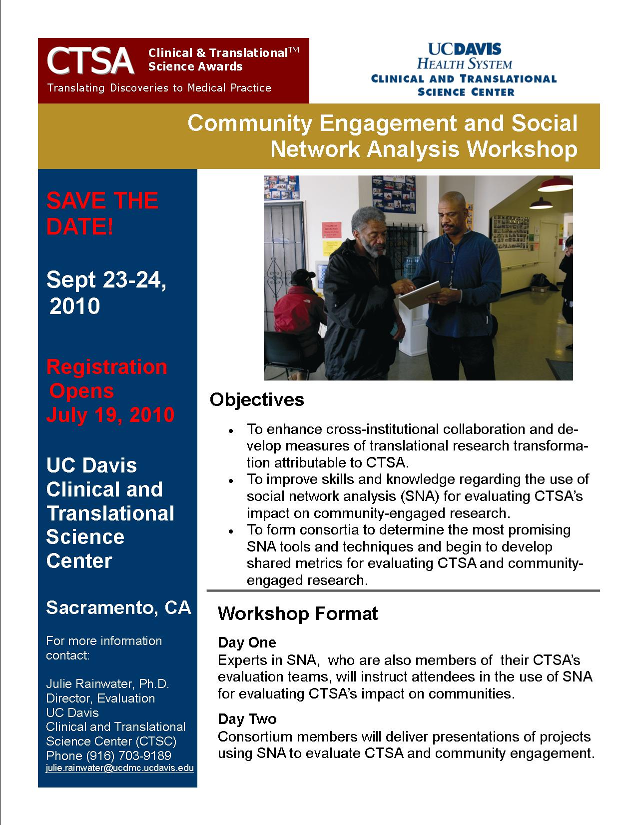 September 23-24: UC Davis: SNA Training Workshop