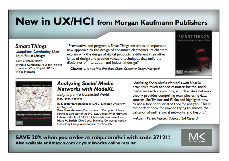 Ad for Analyzing social media networks with NodeXL: Insights from a connected world