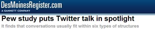 20140220-DesMoines Register-Pew-SMRF-6 Kinds of Twitter networks