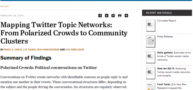 The six types of Twitter conversations Have you ever wondered what a Twitter conversation looks like from 10,000 feet? A new report from the Pew Research Center, in association with the Social […]