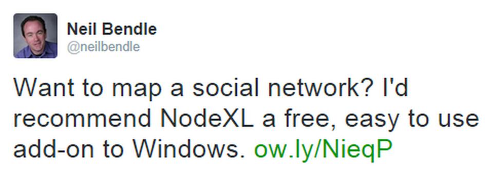 Featured NodeXL Tweet