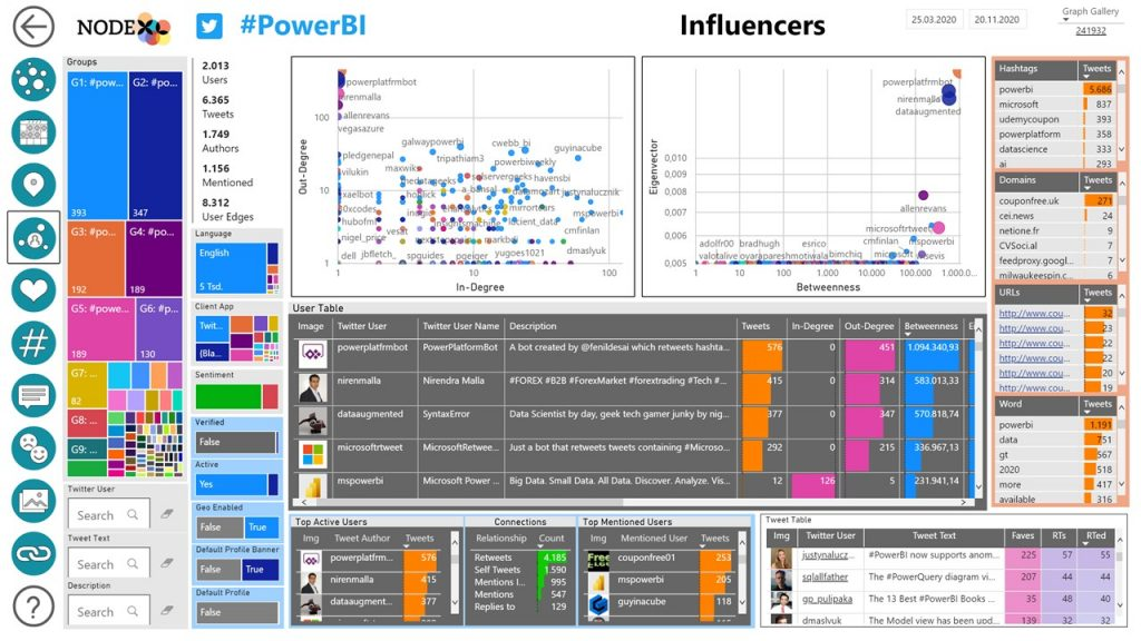 NodeXL Pro Insights Influencers